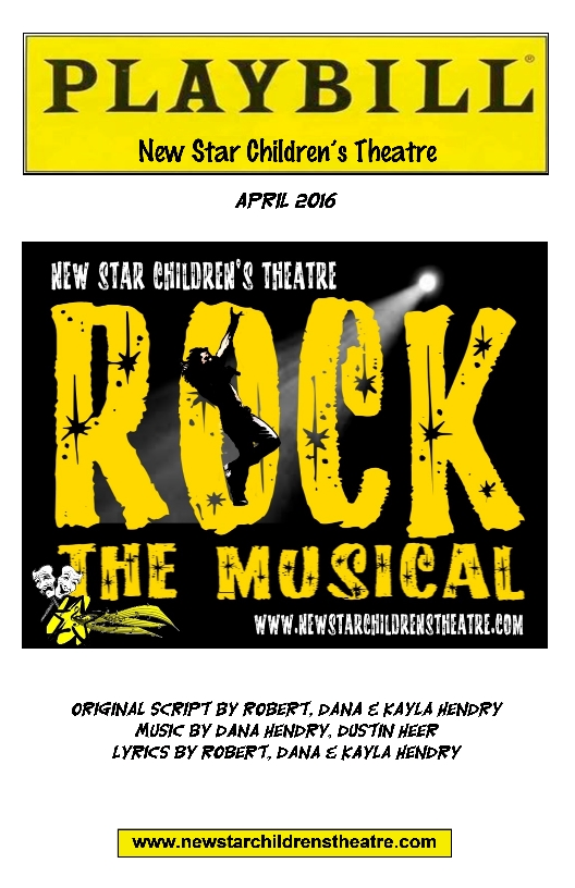 Rock the Musical Playbill Cover