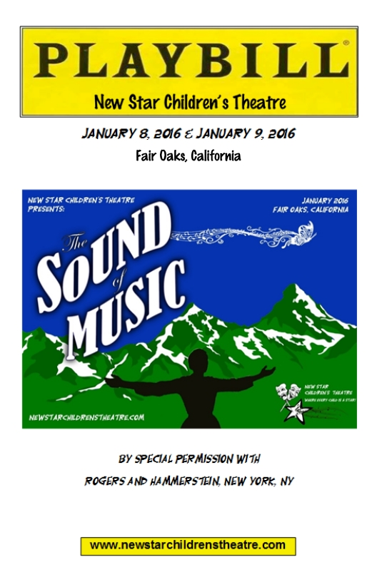 Sound of Music Program Cover