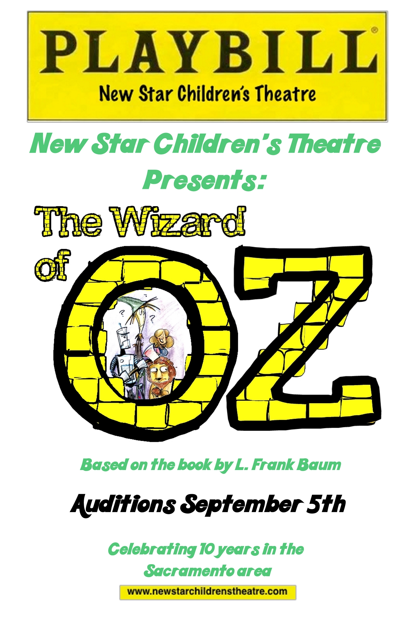 Wizard of Oz Playbill Cover